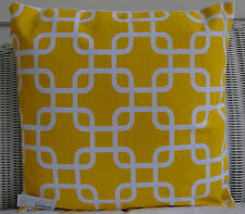 YELLOW & WHITE GEOMETRIC PATTERNED SCATTER CUSHION COVER 45 X 45CM SALE $12.95