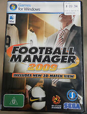 SEGA Football Manager 2009 including 3D Match View for Window and Mac