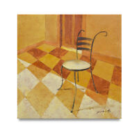 NY Art - Modern French Dining Chair Still Life 24x24 Oil Painting on Canvas