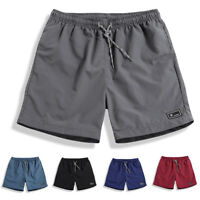 Men Quick Dry Swim Shorts Trunks Beach Underwear Boxer Briefs Sports Short Pants