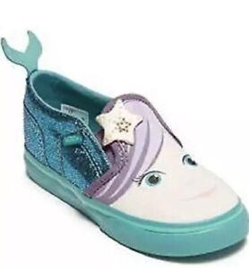 Vans Slip-On Mermaid Shoes Toddler Sz 4.5  Asher V Blossom Latigo Cute New Girls