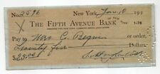 Artist Douglas Volk - signed bank check 1922
