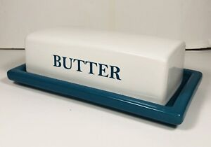 Butter Dish Blue and White Mainstay