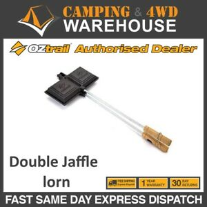 CAMPFIRE DOUBLE SIZE JAFFLE Maker Cast Iron Cooking BY CAMPFIRE