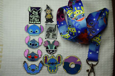 Disney Pin Starter Set 10 piece Lilo Stitch Pins and Stitch Sparky Yang Lanyard