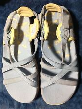 MERRELL Girls SAN REMO Leather Criss Cross Sandals Shoes Blue/yello US 2 EUR 33