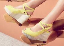 New�� Clarks��Sz 6 Mary Portas La Amelia Leather Wedge Platform Sandals Shoes