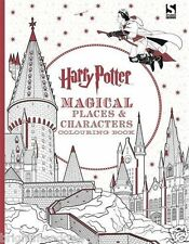 Harry Potter Magical Places Adult Colouring Book J K Rowling Hogwarts Wizard