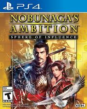 NEW Nobunaga's Ambition: Sphere of Influence (Sony PlayStation 4, 2015)