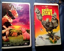 The Iron Giant and Babe Vhs