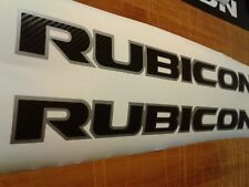 RUBICON Jeep hood Decal-Sticker Emblem fiber carbon (SET)