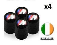M Sport BLACK long Tyre Wheel Valve Dust Caps Motorsport X 4 fits BMW all