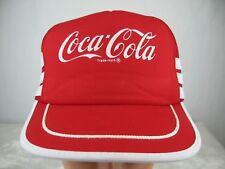 Vintage Coca Cola Trucker Hat Mesh Snapback Three Stripes One Size Taiwan Unused