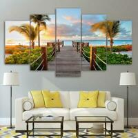 Boardwalk to Paradise Holiday 5 piece HD Art Poster Wall Home Decor Canvas Print