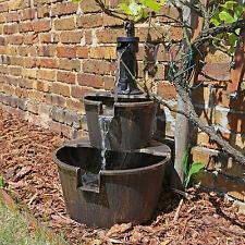 Springbrunnen für Garten oder Teich Kaskaden Wasserfall Wasserspiel Zierbrunnen