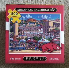 Arkansas Razorbacks 500 Piece Puzzle by Dowdle Folk Art, New