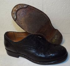 SCOTTISH BLACK LEATHER DRESS BROGUES - Size: 7 Small  , British army Issue
