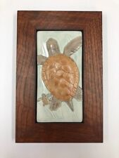 Medicine Bluff Daddy's Girl Turtle Art Tile Craft Mission Style Family Woodworks