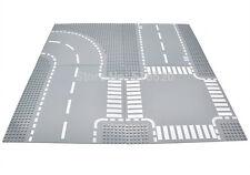 NEW 4pcs/set LEGO ROAD Base Plate Baseplates Curve Street City Roads Straights