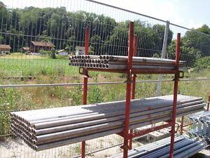 Gerüstrohr Aluminium 48,3mm, 300 cm lang Zaunpfosten gebraucht