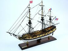 "Handmade Wooden USS Rattlesnake Tall Ship Model 28"" Fully Assembled NEW"
