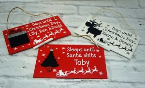 Personalised Christmas Plaque family first Christmas baby name gift