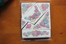 Patchwork Heart rubber stamp kit Stampendous