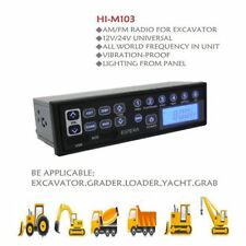 Heavy Duty Excavator Radio AUX USB Input 12V 24V AM/FM for Tractor Truck Grader