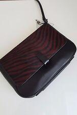 JOY GRYSON Modern Zebra Haircalf 63543 GUGGENHEIM Clutch Wine Zebra Crossbody