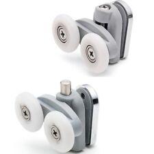 2 x Double Shower Door Rollers/Runners/Wheels 23mm or 25mm Top & Bottom L076