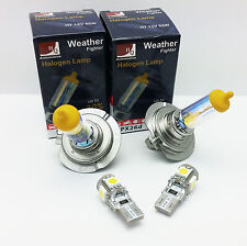 H7 LOW BEAM HIGH W5W LED PARKING WEATHER FIGHTER CAR BULBS HEADLIGHTS SET 12V A