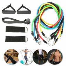 11PCS Heavy Duty RESISTANCE BAND TUBE Power Gym Exercise Training Yoga Fitness