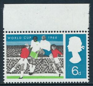 1966 GB SG694a BLACK OMITTED WORLD CUP (ORD) 6d FINE MINT MNH