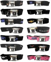 Auto Brands Logo Seat Belt Style Color Seatbelt Belt Buckles Multiple Styles NEW