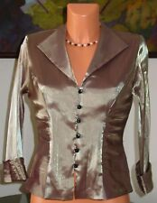 NWT XSCAPE Special Occasion Top, sz 8 GOLD