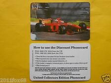 phone cards 100 units ferrari formula 1 schede telefoniche 1998 telefonkarten gq