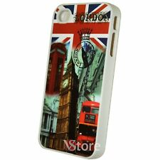 Cover Custodia Per iPhone 4/4S Bandiera Vintage London Inglese + Pellicola