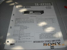 SONY TA-AX360 Integrated Stereo Amplifier Service Manual