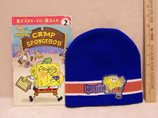Sponge Bob Stocking Hat Cap and Ready to Read Book Camp Sponge Bob Lot of 2