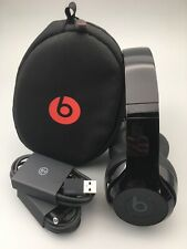Beats By Dre Solo 3 Wireless Headphones Glossy Black — Excellent — Super Clean!
