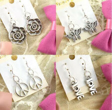 Wholesale HOT Lady 4 Pair Fashion Jewellery Silver Mix Stud Earrings New