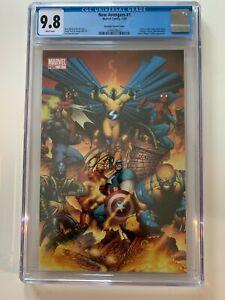 New Avengers 1 CGC 9.8 Quesada Virgin Variant 1st Cover App Ronin Maya Lopez