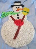 Melted Plastic Popcorn CHRISTMAS DECORATION SNOWMAN COLLECTABLE VINTAGE