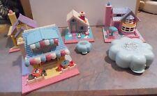 Lot of 6 Vintage Bluebird Polly Pockets - Pizza, School, House ++++