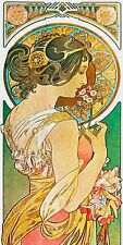 Art Nouveau Alphonse Mucha Illustration  3 X 6 Inches Ceramic Wall Tile #006