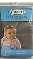 """Graco Pack n Play Playard Fitted Sheet - Stone Grey - 39"""" X 27"""" - Free Shipping"""