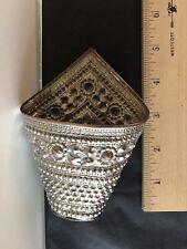 Very Rare Silver Betel Leaf Holder - Makes an Elegant Napkin Holder!
