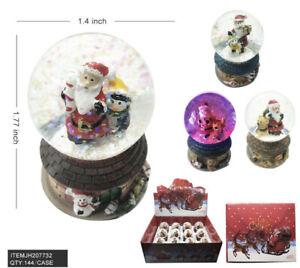 Lot of 12 Christmas Santa Claus Snow Globe Crystal Ball Glitter