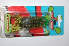"""zman bass hollow body frog leap frogz popping  2.75""""  topwater old school frog"""