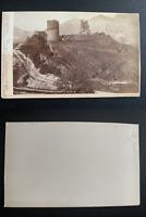 J. Fetzer, Suisse, Ragaz & Walenstadt Vintage albumen print CDV. Tirage albumi